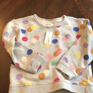 Brand new with tags Gymboree polkadot sweatshirt